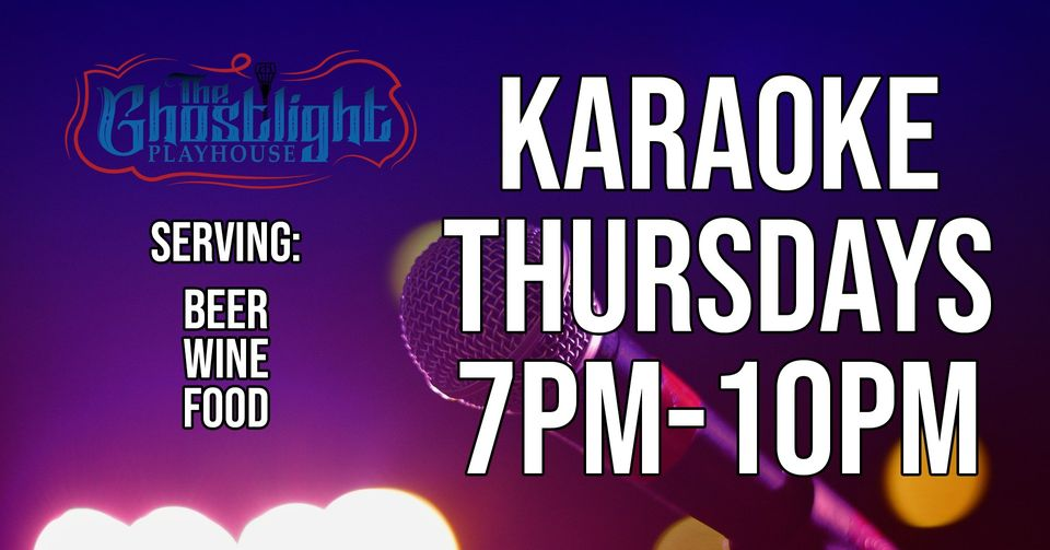 Karaoke Thursdays hosted by John Wing. Thursdays from 7pm to 10pm.