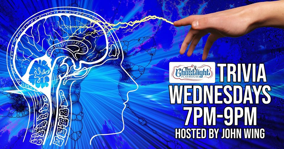 Ghostlight Trivia hosted by John Wing. Wednesdays from 7pm to 9pm.